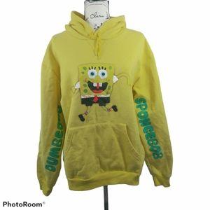 SpongeBob Yellow Graphic Hoodie L